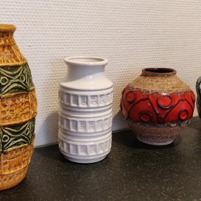 4 flotte tyske keramik vaser sælges samlet