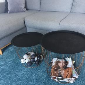Sofabord. 2 kurve med aftagelige 'låg'