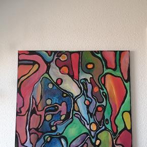 Sælger en af mine værker. Måler 80×100. Skriv for interesse.
