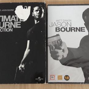 Jason Bourne boks med 1.2.3  Set 2 gange  Jason Bourne nr.4 Stadig med plastik om.  Samlede pris 55 kr..  Enkelt. Boks 50 kr Film 20 kr