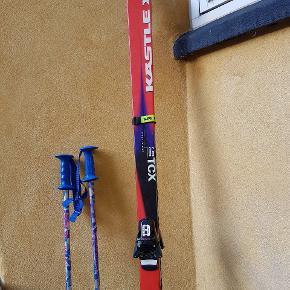 Ski KASTLE TCX, L 185 cm med stave