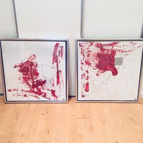 2 malerier 65*65 cm, fejler intet