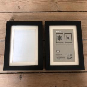2x rammer fra IKEA. Ribba 13x18 cm
