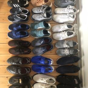 Hey, sælger alle disse sko. Nogen af dem er helt nye og andre er lettere brugt, 42 og 42,5. Spørg endelig for cond, model og pris. Mængderabat gives selvfølgelig!