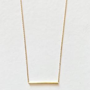 Maria Black Long Tube Necklace i guld belagt Sterling sølv. Længde 82 cm. Nypris 1100kr.  Jeg bytter ikke.