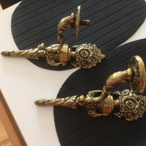 Antik messing lamper