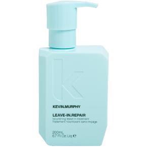 Kevin Murphy LEAVE-IN.REPAIR Nourishing Treatment er en genopbyggende og nærende leave-in behandler der kan bruges til alle hårtyper, men er særligt god til dig med tørt eller skadet hår. Den har blandt andet en varmebeskyttende effekt der beskytter dit hår imod skader fra dit varmeapparat og beskytter håret helt op til 200 grader. Derudover styrker den hvert enkelte hårstrå, samt reducerer knækkede og spaltede spidser, så dit hår igen kan komme til at skinne og føles silkeblødt. Plej dig selv og dine lokker med denne skønne leave-in conditioner der giver dit hår fornyet liv, hvilket kan kan give et smil på læben når man kører fingrene igennem det.  Normal pris 258kr