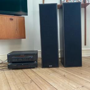 SONY anlæg med Dantax højttalere.  Super lækkert anlæg som spiller rigtig godt og kan spille højt! Desuden følger CD-spiller med og man kan tilkoble sin telefon og andet med AUX samt pladespiller med en omformer. Du er velkommen med et bud og til at komme forbi og teste lyden.