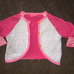 68 cardigan Me too lyseblå pink prikker strik