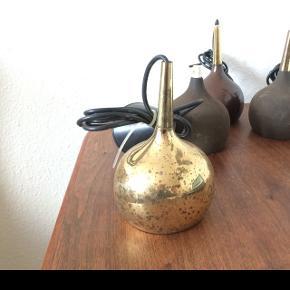 4 loftslamper med heftig patina. Måske designet af Hans Agne Jakobsson.