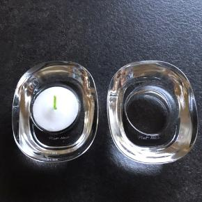 2 stk glas fyrfadsstager fra Piet Hein  Prisen er for dem begge