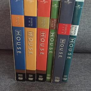 House  Sæson 1, 2, 3, 4, 5 og 6 Set en enkel gang. Alle sæsoner for 200 kr
