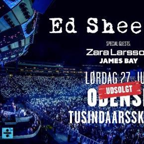 Sælger ét stk. Ed Sheeran billet til den 27/7 2019 i Tusindaarsskoven, Odense.