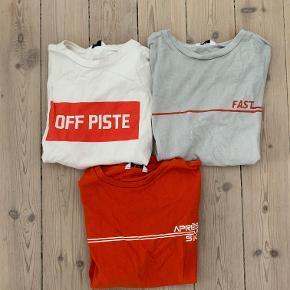 Tre t-shirts fra envii alle str. s.   Kan også købes individuelt hvis ønskes