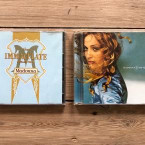 Pris er pr stk Sælges samlet for 50kr  Madonna  The immaculate collection Ray of light  I rigtig god stand, uden ridser. Kun afspillet få gange.   Sender gerne, køber betaler porto. Kan også afhentes på Frederiksberg.