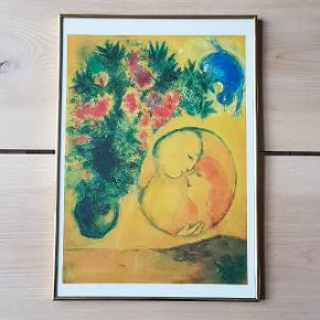 Fint motiv i ramme 💛 Måler 32 x 45 cm