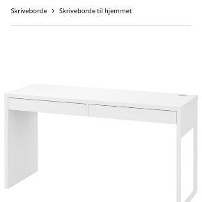Ikea Micke skrivebord sælges. Fremstår i god stand. Kan afhentes i Viby j. Nypris 499,-