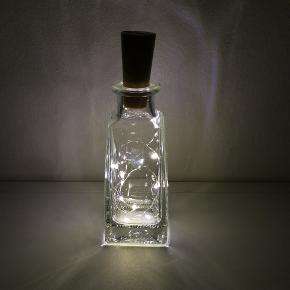 Lyskæde i flaske, med afbryder.