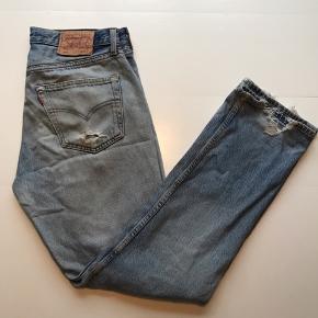 Vintage Levis 501  Vasket lysblå  Str 33/32