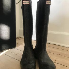 Sorte Hunter gummistøvler brugt et par gange. Perfekt stand