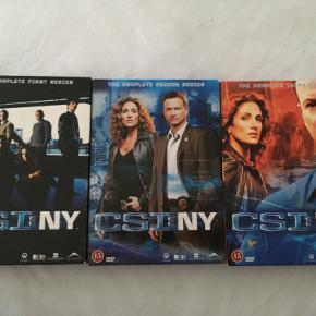 CSI: NY sæson 1, 2 og 3: 100 kr.  Kan afhentes i Odense C, Fredericia eller Børkop. Ved forsendelse betaler køber for porto.  Kontakt mig på SMS: 20 15 85 87