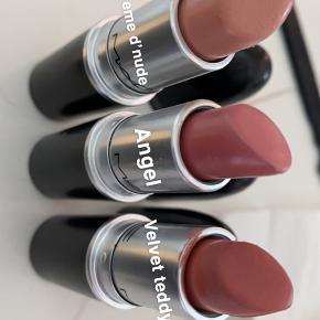 Mac læbestifter. 85 kr. stk. køb alle for 500kr. De er kun prøvet på et par gange.