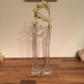 Virkelig søde glasvaser 🌸uden pynt🌸uden brugsskader eller skader 🌸🌸Mp 25