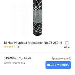 Id Hair Nioplex Maintainer Hårkur 250 ml Nye produkter fra lukket salon.