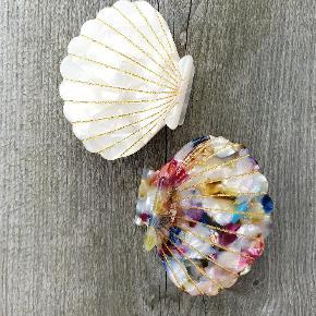 Smukke Sea shell clips i flot perlemor eller mix. Måler ca 5 cm i brede.