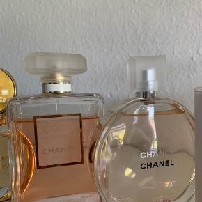 200 ml Coco Chanel  Brugt en smule.  Nypris 1600kr.   150ml Chanel chance  600kr.  Brugt meget lidt