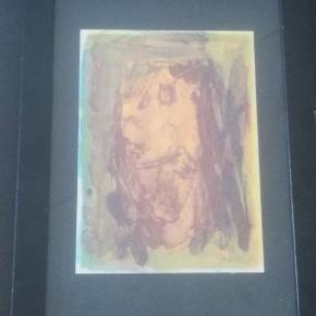 Tegning/billede i glasramme af Leif Lage. Nr. 22 ud af 200  Måler 15 X 21 cm (med ramme er det 25 X 34 cm).
