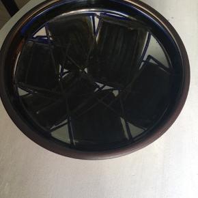 Stor smuk keramik skål, Ø: 33,5 cm og H: 8 cm. Mærke: HANNE STENTØJ DANMARK