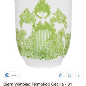 5 styk bjørn wiinblad cecilia termokopper. Fejler intet. Super gode kopper.  Nypris er 200kr stykket. To sorte To røde En grøn