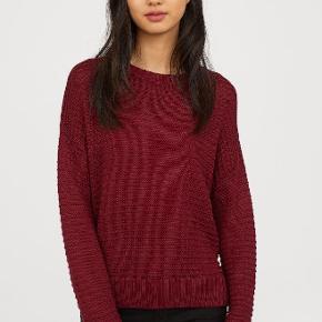 Varetype: strik trøje knit sweater bluse vinrød Farve: Bordeaux