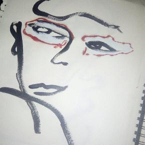 Maleri malet på tykt papir i A3 størrelse Uden ramme  Se mine andre malerier på mine andre annoncer :)
