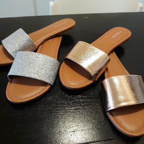 Pieces LEATHER SANDAL Sandaler 1 Sølv