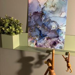 Unika maling/ forskellige medier på A3 papir. Lavet af mig selv, Camilla West Video kan sendes så man bedre kan danne sig et indtryk af form og farver. Maleri plakat