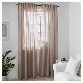 Nye gardiner i 100% hør Syet til størrelse 140*240