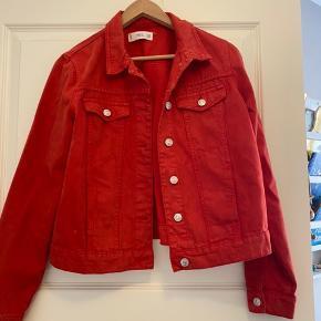 Rød denim jakke fra mango  Cowboy jakke denimjakke