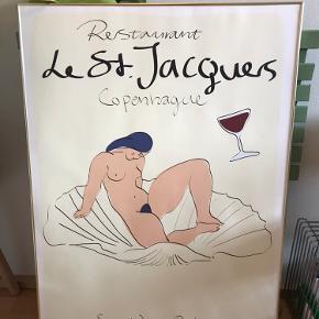 Peter Kjær Andersen - Le St. Jacques   Måler 70 x 100  Plakat inklusiv guldramme - uden glas  Original samlet pris: 950kr. Plakaten koster i sig selv 300kr