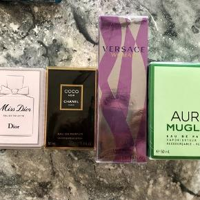 Miss Dior 50 ml EDT Chanel Coco Noir 50 ml EDP Versace Woman 50 ml EDP Aura Mugler 50 ml EDP  If you purchase all for 1500kr