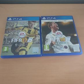Sælger de 2 FIFA spil til PlayStation 4. Fejler intet.. Kan sendes med Dao for 38 kr...