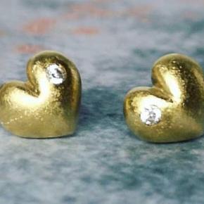 14k. Vermeil-guld med hvide topazer  Brugt sparsomt