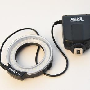Meike MK-FC100 Macro flash inkl. adapterringe (se foto)Ubrugt 250 kr. (nypris 649 kr.) Sendes ikke. Afhentes i Aarhus C