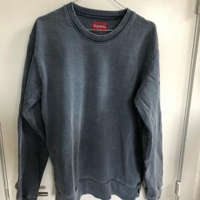 Blå supreme sweatshirt aldrig brugt Str:L