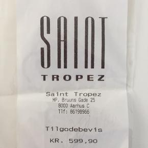 Tilgodebevis til Saint Tropez på kr. 599,90 sælges. Kan benyttes i Køge, Esbjerg Broen og Kastrup lufthavn 🛍