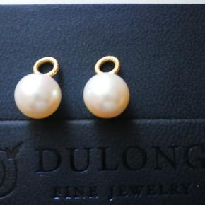 Smukke kultur perler fra Dulong med 18 kt guld