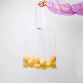 Fedeste tote / net fra Lemon Suite i et stærkt gennemsigtigt materiale. Super fint og holdbart! Køb gennem indiegogo 💕