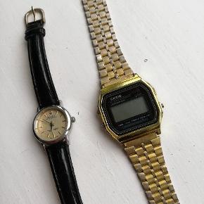 To ure sælges billigt, det fra Casio er guldet slidt af flere steder :) 35 for det guld 25 for det sorte