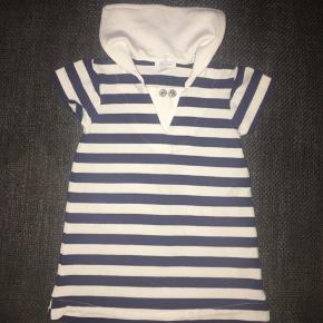62 Ny kjole Jacadi Paris  marineblå hvid stribet Kun vasket